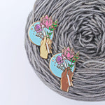 Bouquet - Crochet Enamel Pin