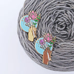 *Bouquet - Crochet Enamel Pin *Seconds