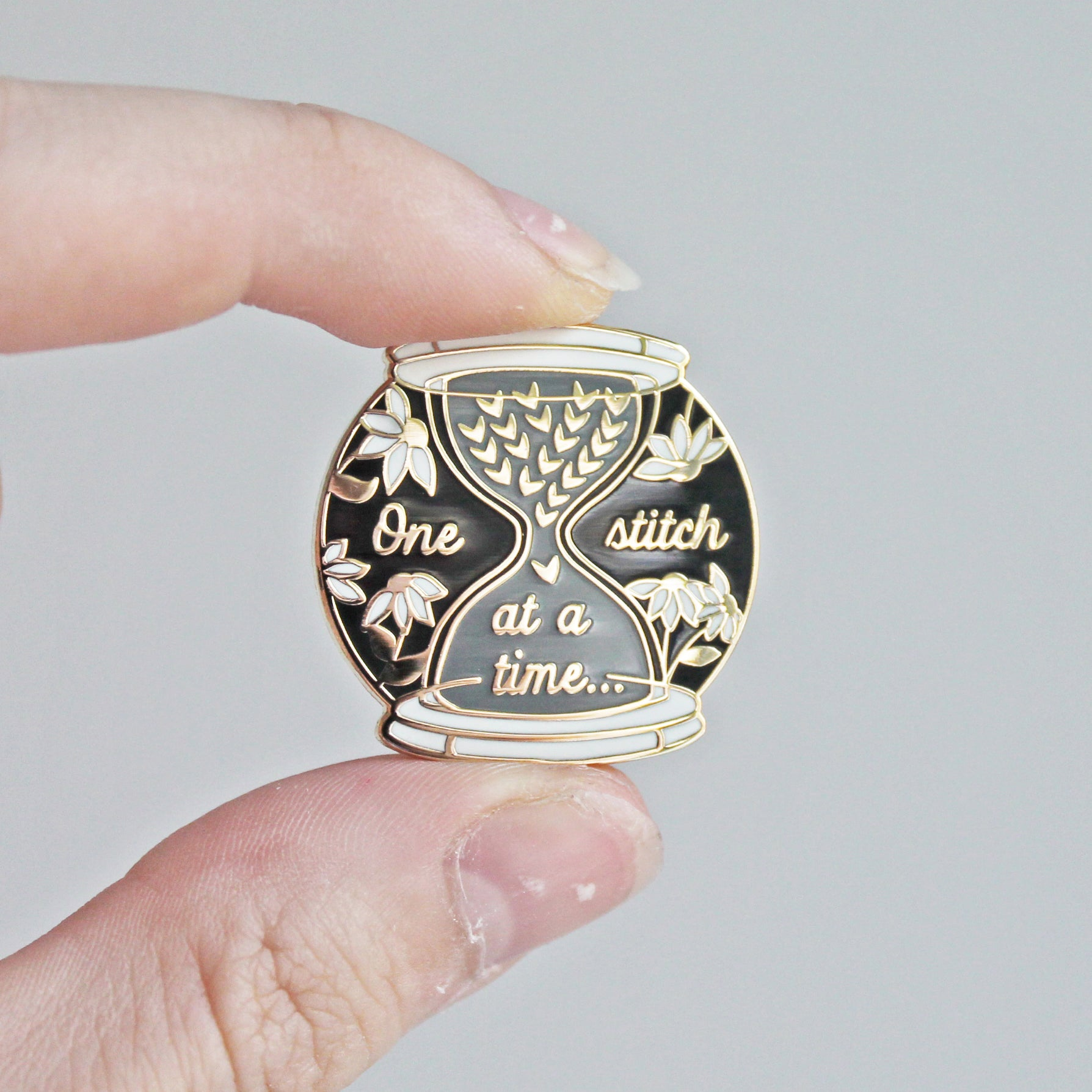 One Stitch At A Time Enamel Pin