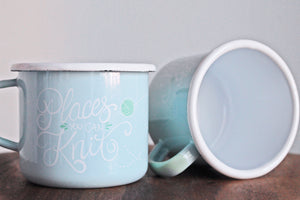 Places You Can Knit Enamel Mug