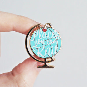 Places You Can Knit Enamel Pin