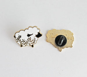 Little Black Glitter Sheep Enamel Pin