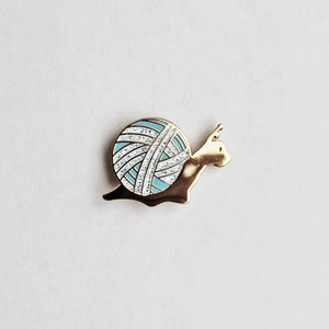 Slow Knitter Enamel Pin