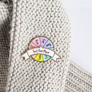 'Just One More' Spinner Enamel Pin