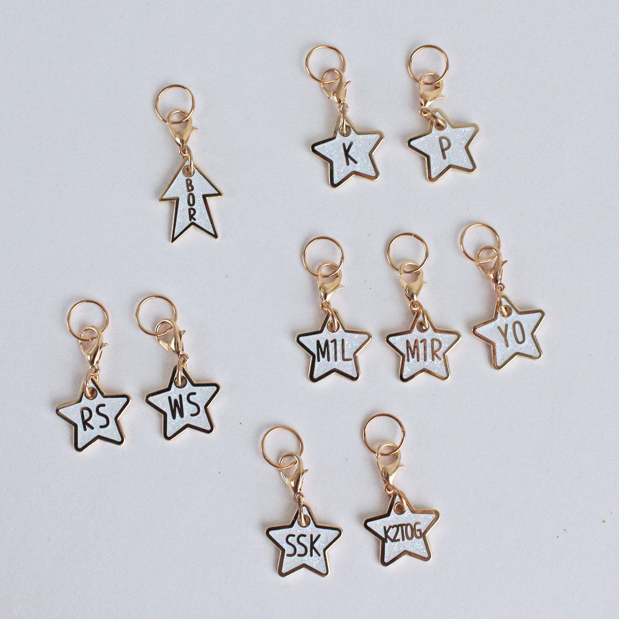 Glitter Star Knitter's Helpers Progress Keepers/ Stitch Markers (INDIVIDUAL)
