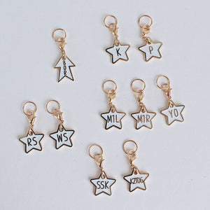 Glitter Star Knitter's Helpers Progress Keepers/ Stitch Markers (MINI SETS)