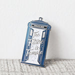 """The Future is Female' Tardis Enamel Pin"