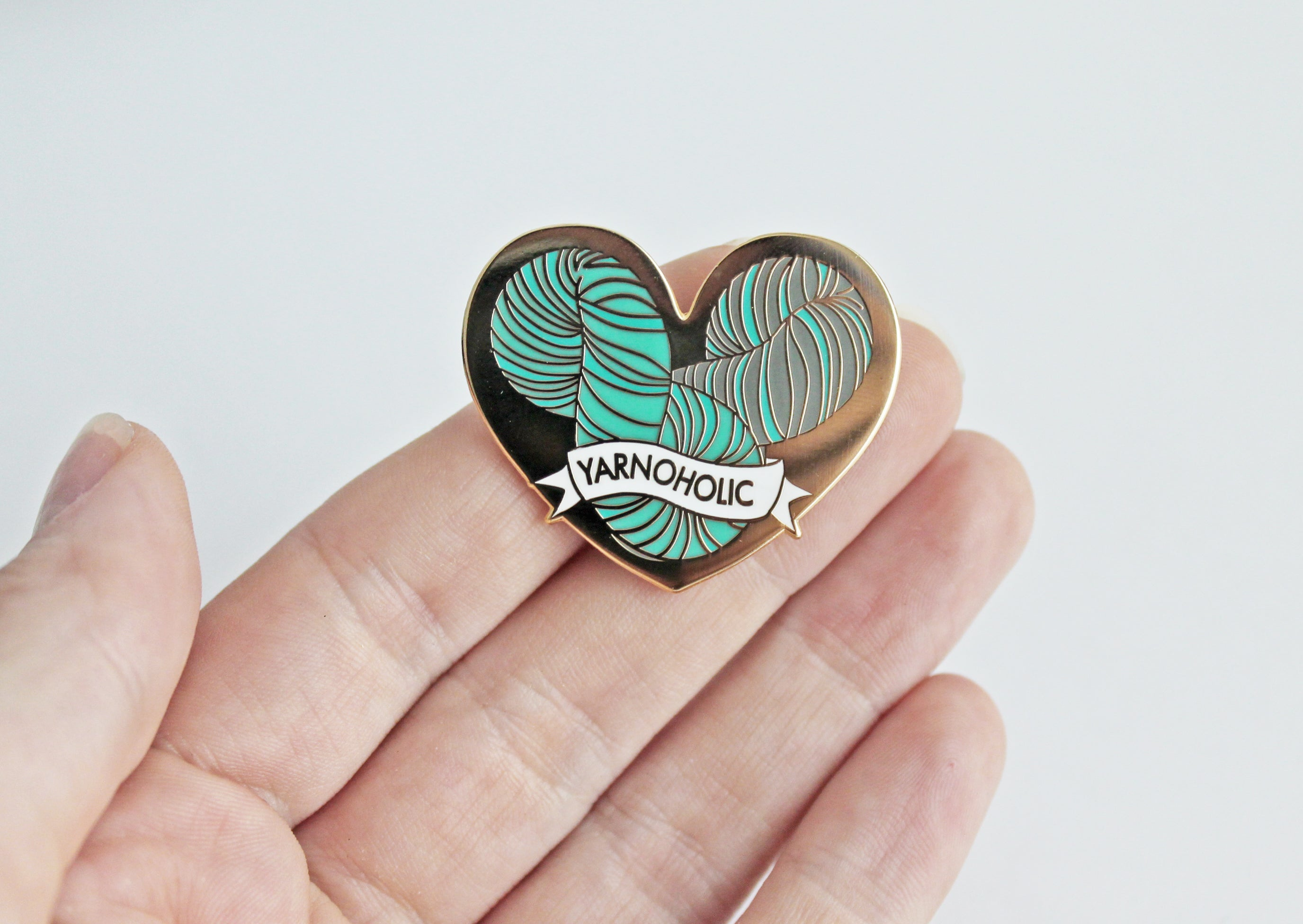 *Yarnoholic Enamel Pin *Seconds
