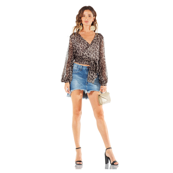 One Teaspoon Vanguard Mid-Rise Relaxed Miniskirt