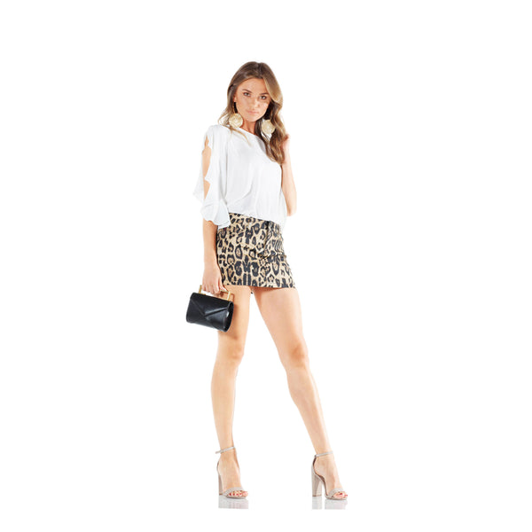 TRIPP NYC Leopard Mini Skirt