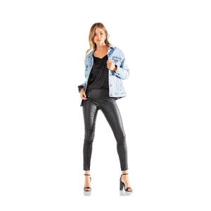 Montrôse Oversized Light Wash Denim Jacket