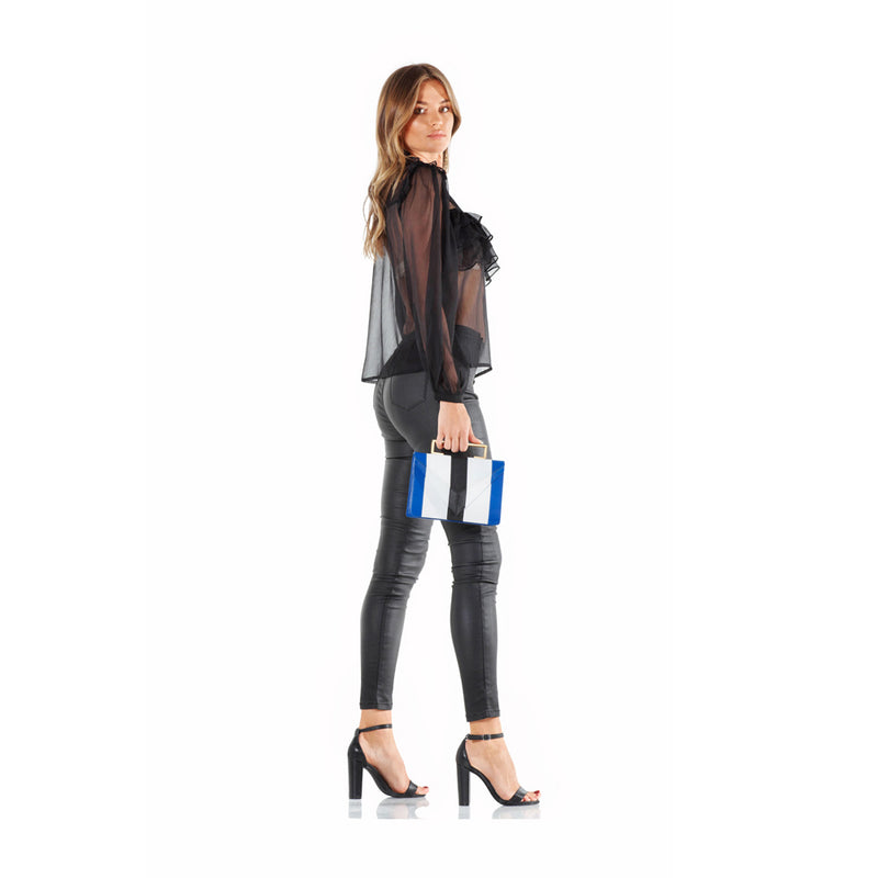 Montrose Sheer Peasant Top