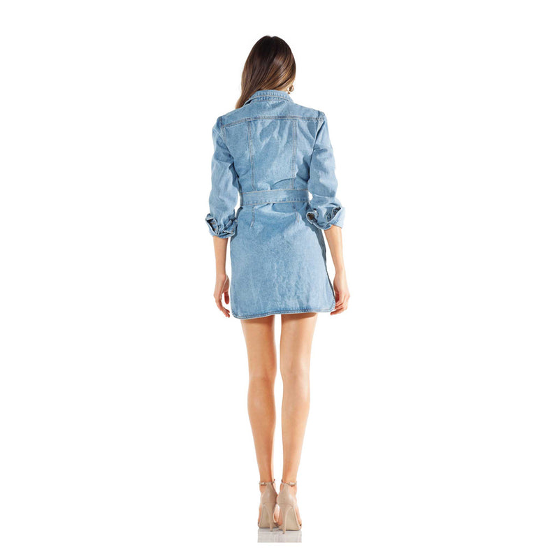 Lioness All That She Wants Denim Dress