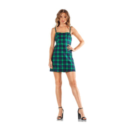 Montrose Plaid Spaghetti Strap Mini Dress