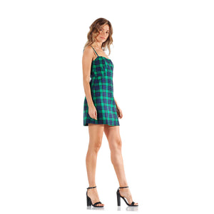 Montrôse Plaid Spaghetti Strap Mini Dress