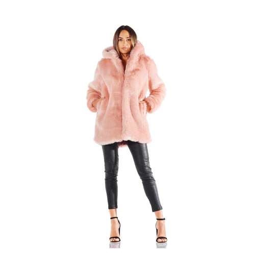 LPA Rosette 84 Faux Fur Jacket