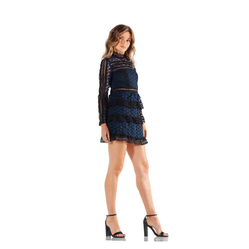 Seta Apparel Navy/Black Stars Dress