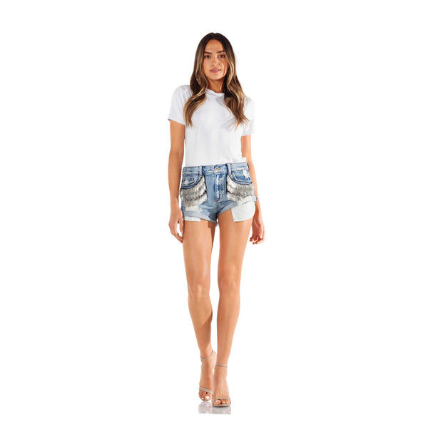 Seta Apparel Illusion Denim Shorts