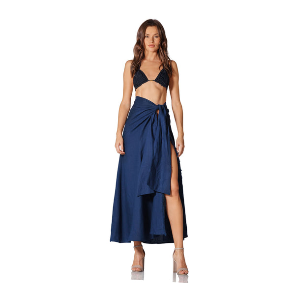 Caffe Swimwear Blue Doha Skirt
