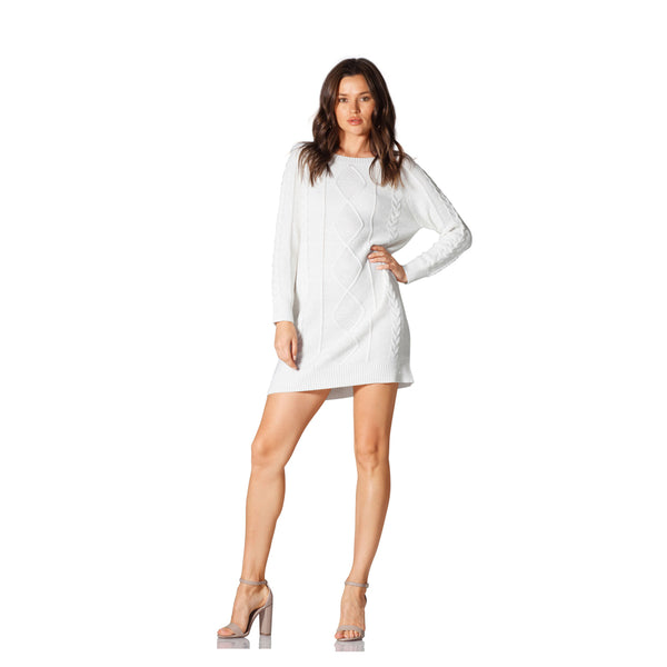Montrôse Chunky Cable Knit Sweater Dress