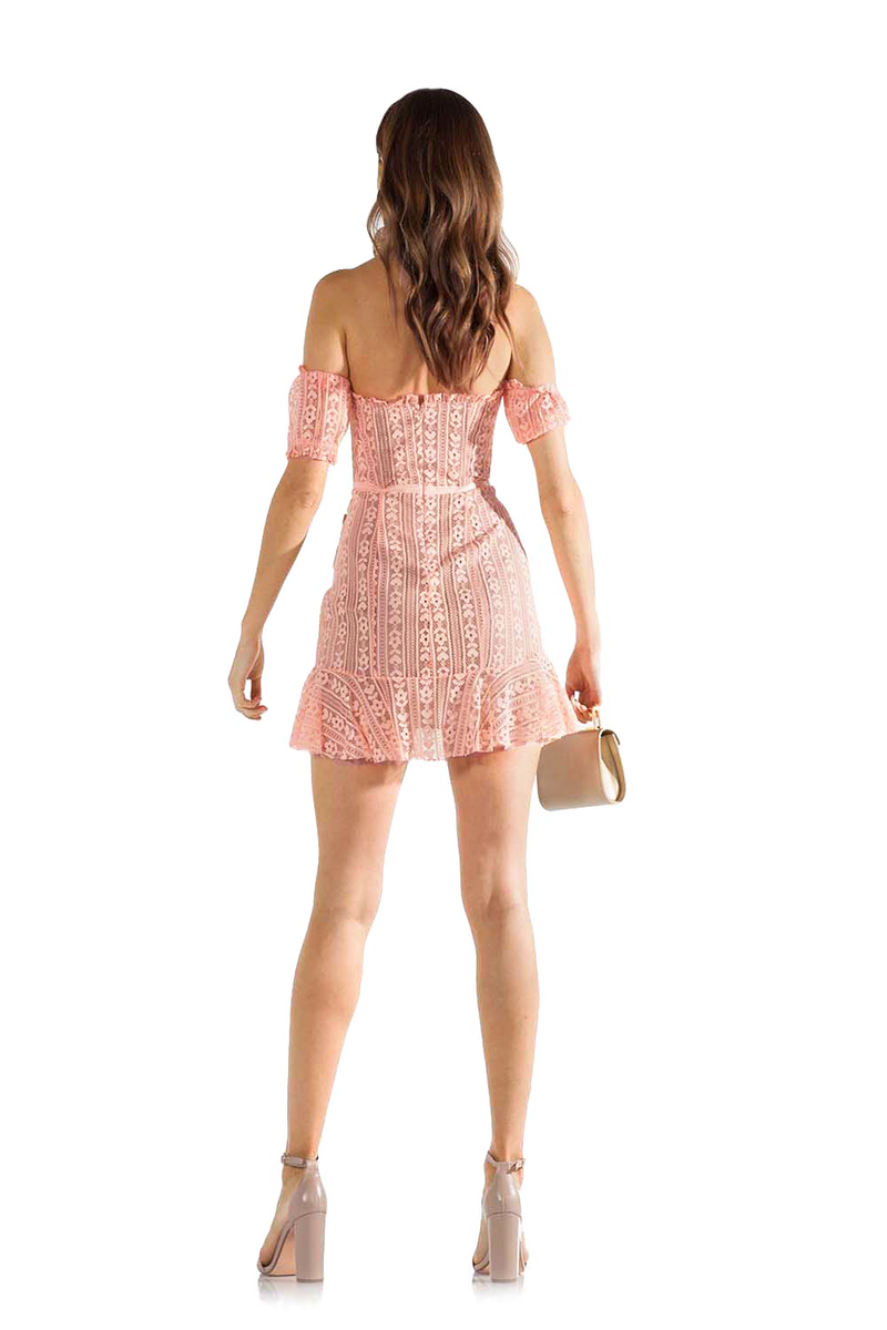 For Love and Lemons Dakota Lace Mini Dress