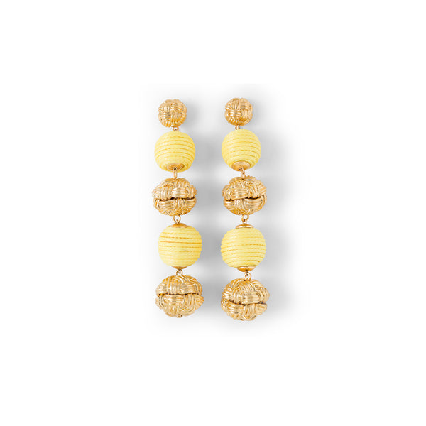 For Love and Lemons Yellow Ball Drop Earrings
