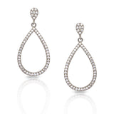 14K Gold Open Teardrop Diamond Dangle Earrings AJE1174