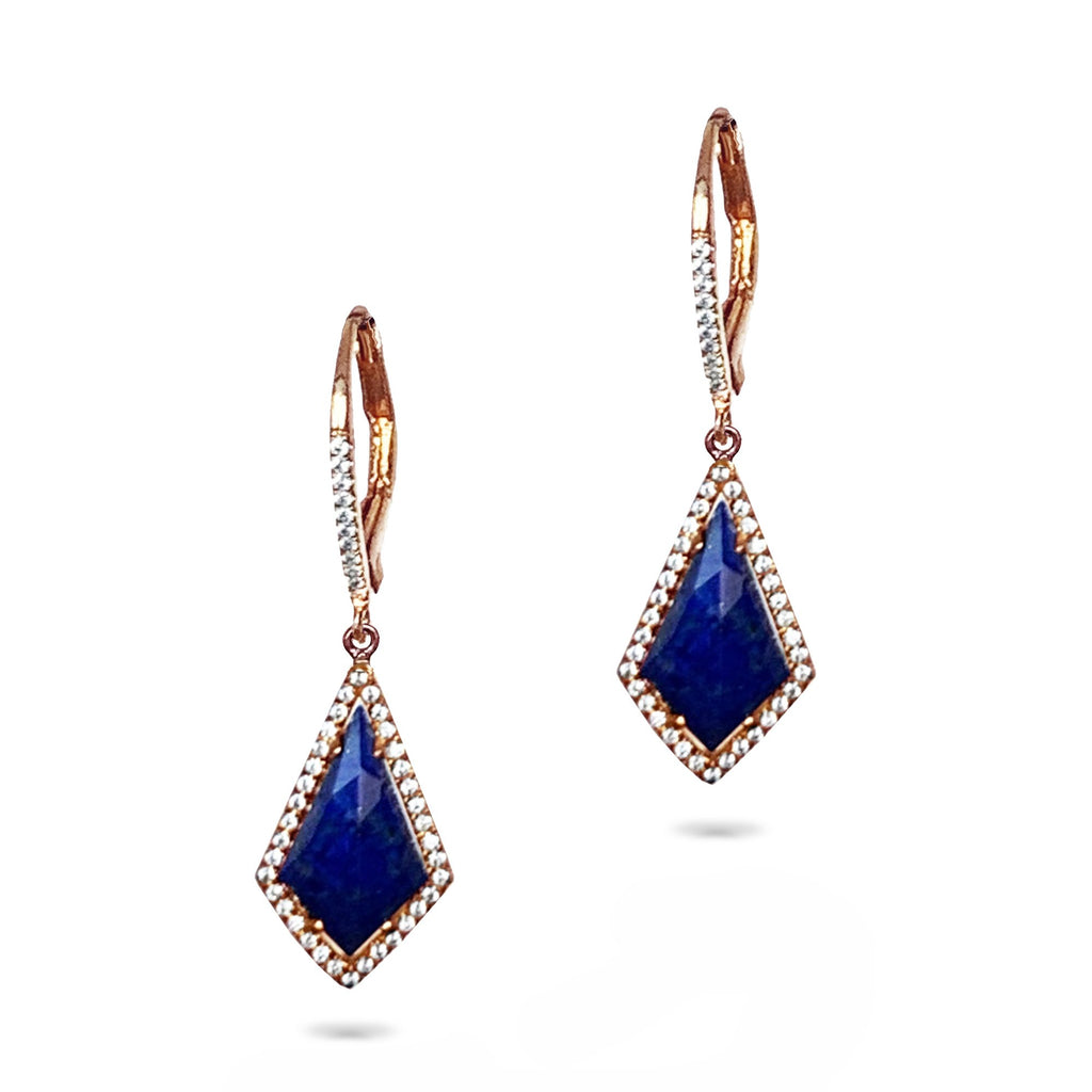 14k gold blue lapis kite dangle earrings ME23796