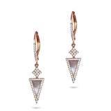 14k Gold Art Deco Mother of Pearl Diamond Earrings ME24964