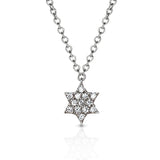14k Star of David diamond charm necklace MN44553B