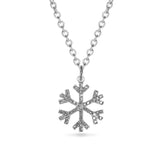 14K Snowflake Diamond Choker Charm Necklace MP00028