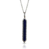 14k lapis and diamond bar charm pendant MP24899