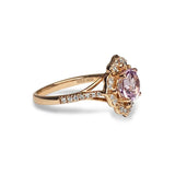14k gold vintage white topaz engagement ring MR45173
