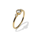 14k gold diamond white topaz designer fashion stackable ring  MR45624