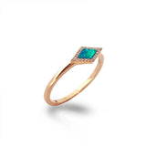 14K Marquise Opal & Diamond Stack Ring MR71675OP
