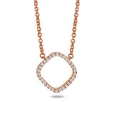 14k Gold cushion diamond pave necklace ON3D