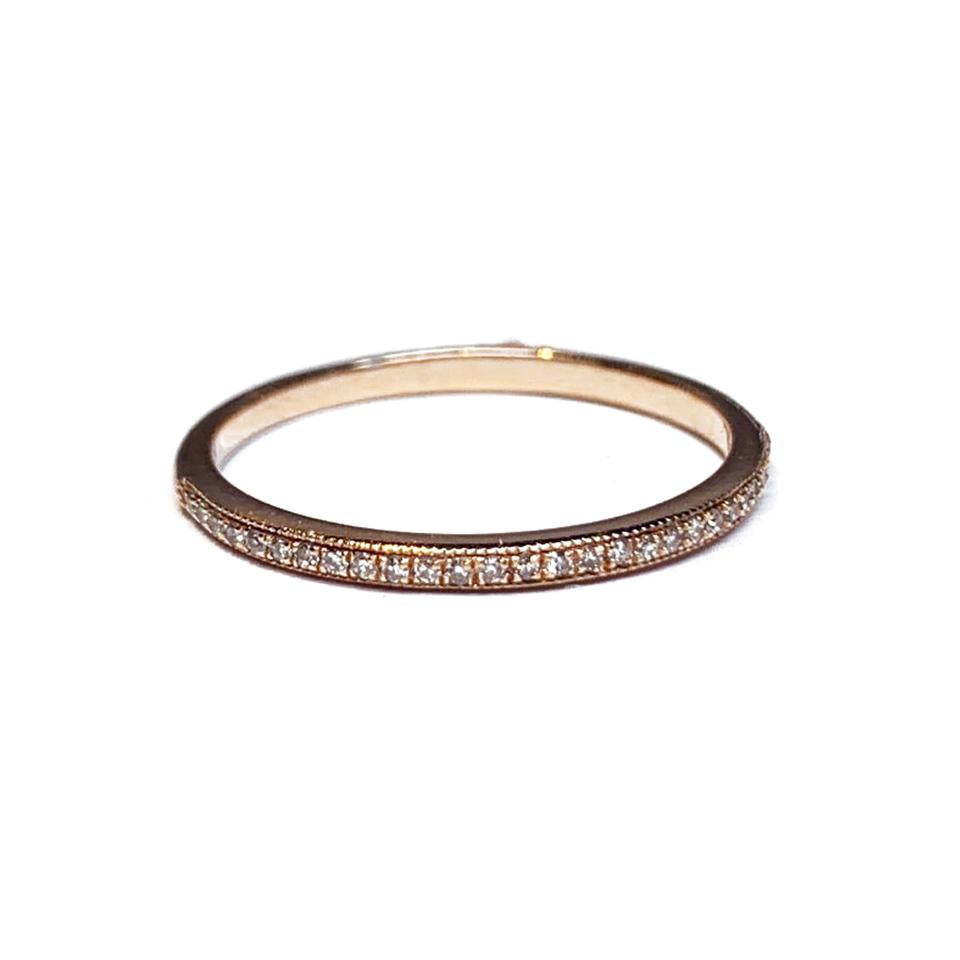 14k gold diamond wedding band stackable ring SR31593