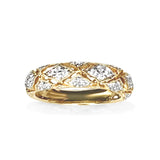 14k gold vintage milgrain diamond band WB471