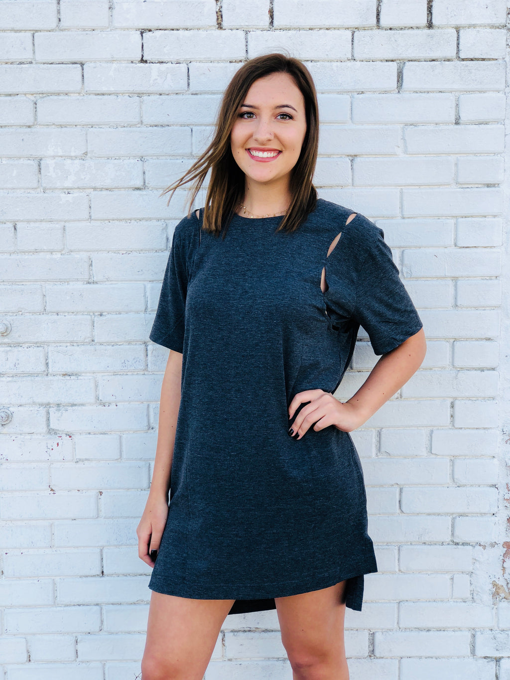 Charcoal Cut Out Dress