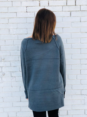 Charcoal Chunky Cut Sweater