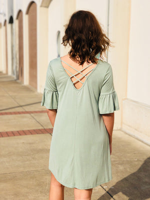 Sage Shift Dress