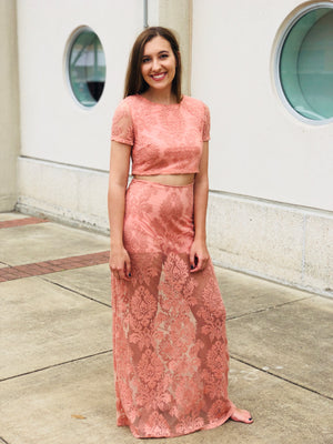 Blush Lace Two-Piece Set