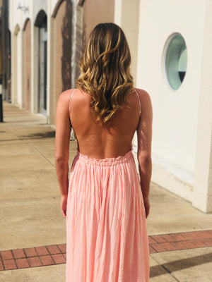 Blush Crochet Maxi Dress