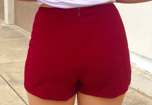 Burgundy Envelope Skort