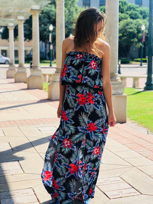 Tropical Paradise Floral Maxi Dress