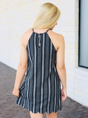 Sleeveless Scalloped Dress