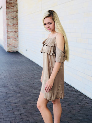 The Farrah Dress - Taupe