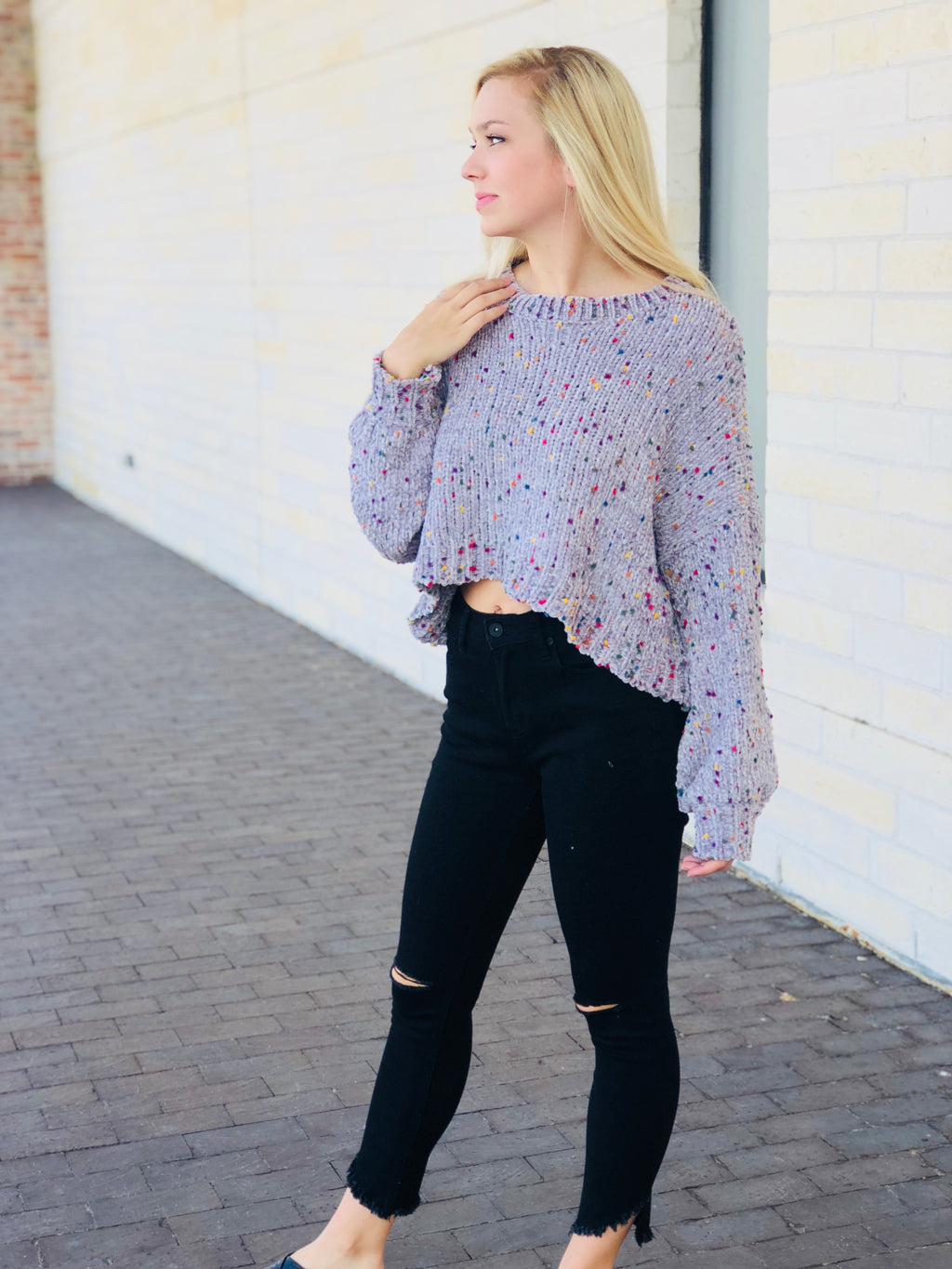 Chenille Multi Color Sweater
