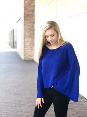 Royal Bell Sleeve Crop Sweater
