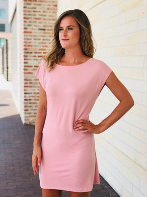 Dusty Pink Tie Dress